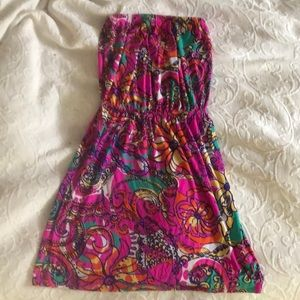 Like new Lily Pulitzer strapless summer dress